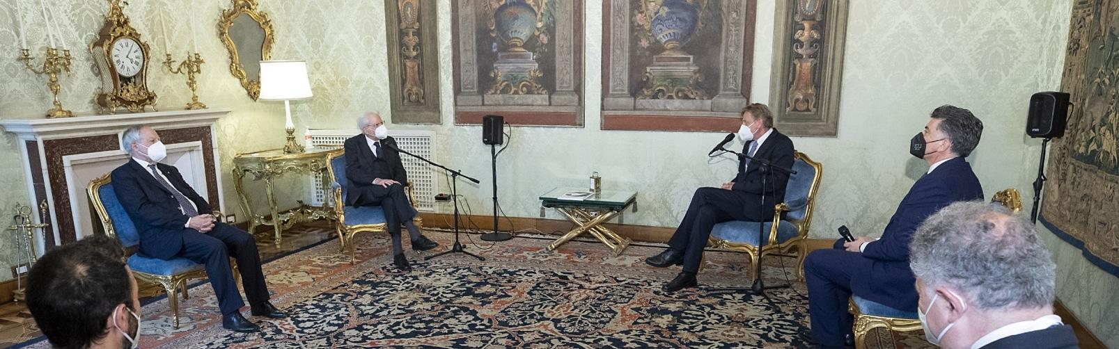 """Featured image for """"Il Presidente Mattarella ha ricevuto il Presidente della Fondazione Meeting per l'Amicizia fra i popoli, Scholz"""""""